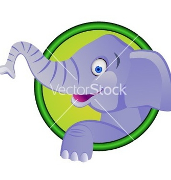 Free funny elephant cartoon vector - Free vector #267085