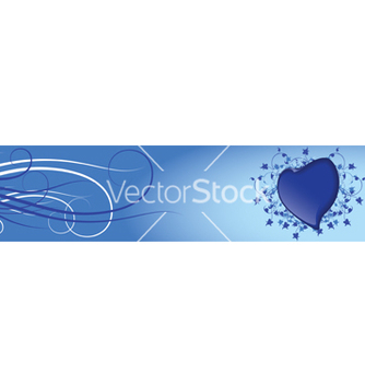 Free blue heart vector - бесплатный vector #267185