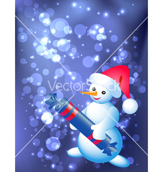Free snowman cartoon vector - Free vector #267205