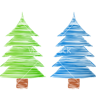 Free hand drawn trees vector - бесплатный vector #267215