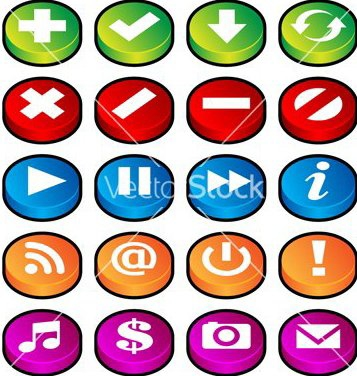 Free puck button icons vector - Free vector #267245