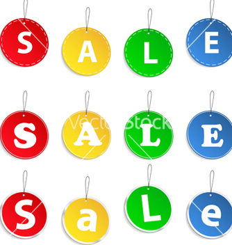 Free hanging sale tags vector - Free vector #267335