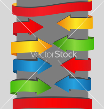 Free arrows and banners vector - Free vector #267425