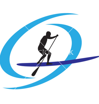 Free stand up paddle boarding vector - vector gratuit #267485