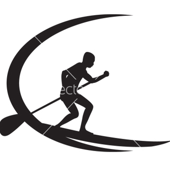 Free stand up paddle boarding vector - vector gratuit #267495