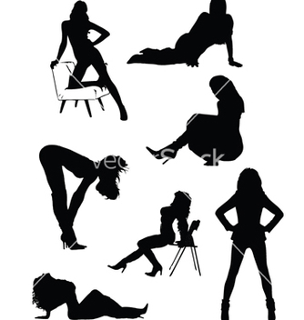 Free lady silhouettes vector - vector gratuit #267695