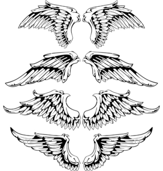 Free wings for your vintage design vector - vector gratuit #267755