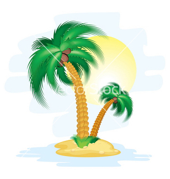 Free cartoon island vector - vector gratuit #267895
