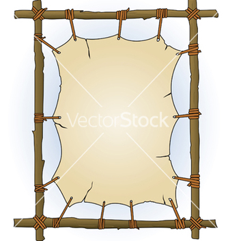 Free primitive sticks and canvas frame vector - Kostenloses vector #268045