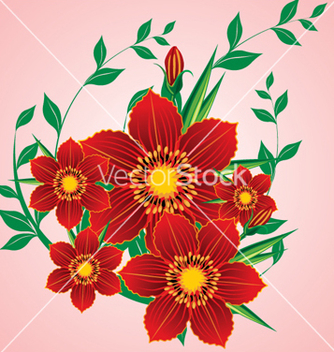 Free floral background vector - Free vector #268155