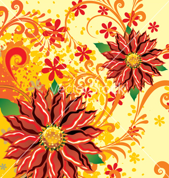 Free floral background vector - Free vector #268165