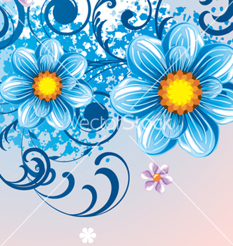 Free floral background vector - Free vector #268265