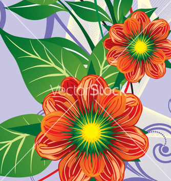 Free floral background vector - Free vector #268315