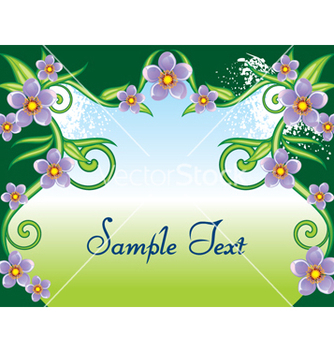 Free floral frame vector - Free vector #268355