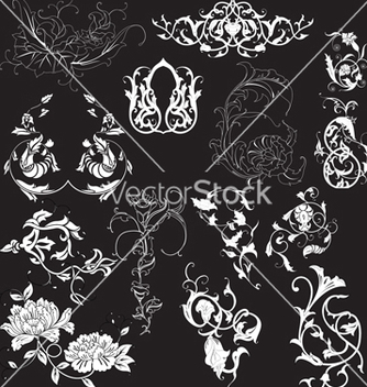 Free floral elements vector - Free vector #268535