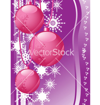 Free snowflakes and christmas balls vector - бесплатный vector #268715