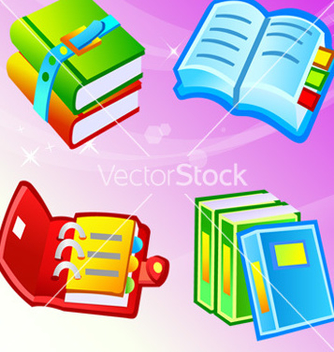 Free book icons vector - Free vector #268825