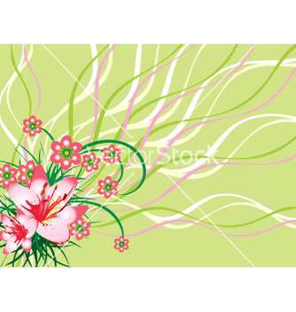 Free floral background vector - Free vector #268885