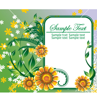 Free floral frame vector - Free vector #269305