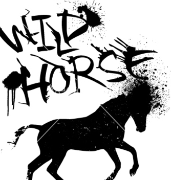 Free ink horse vector - Free vector #269325