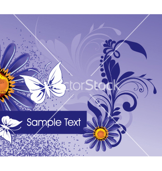 Free floral background vector - Free vector #269465