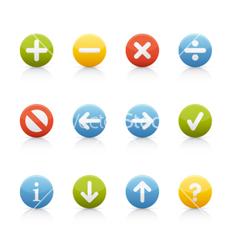 Free icon set navigation buttons vector - vector #269865 gratis
