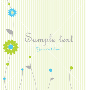 Free greeting card vector - vector gratuit #270105