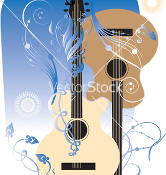 Free two guitars vector - Free vector #270135