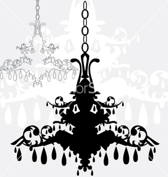 Free simple chandelier graphic vector - бесплатный vector #270175