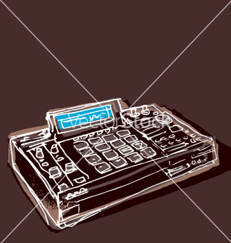 Free mpc drum machine vector - бесплатный vector #270305