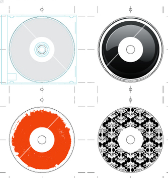 Free cd template and designs vector - бесплатный vector #270365