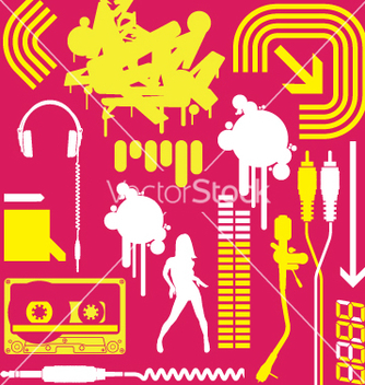 Free club flyer graphic elements vector - Kostenloses vector #270415