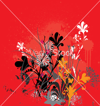 Free grunge flowers vector - Free vector #270475