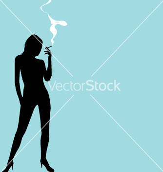 Free smoking silhouette vector - бесплатный vector #270485