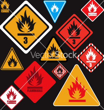 Free flammable signs vector - Kostenloses vector #270545
