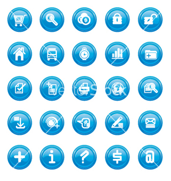 Free web icons blue gloss vector - vector gratuit #270655