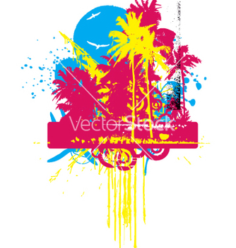 Free tropical grunge graphic vector - бесплатный vector #270685