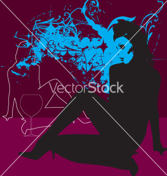 Free sexy girl grunge background vector - vector #270765 gratis