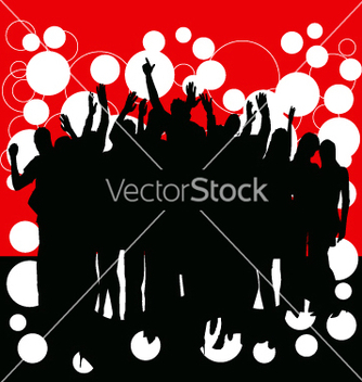 Free party people vector - Free vector #270875
