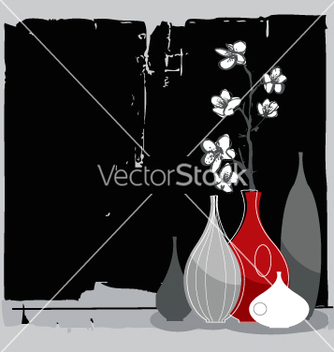 Free home interior with cherry blossom vector - Free vector #270915