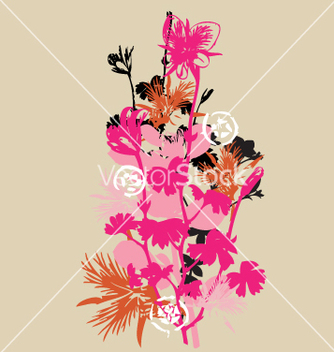 Free wild flowers vector - Free vector #270975