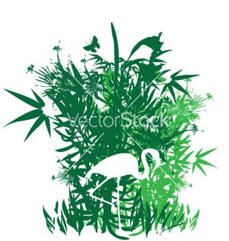 Free tropical garden greens vector - Free vector #271015