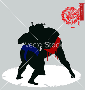 Free sumo fighters vector - Free vector #271035