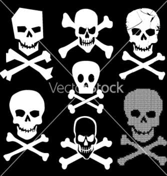Free skull and cross bones vector - vector #271065 gratis