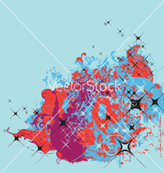 Free graphic background with stars vector - vector #271195 gratis