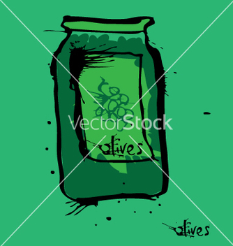 Free olive jar vector - Free vector #271225