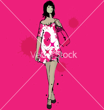 Free girl shopping vector - Kostenloses vector #271245