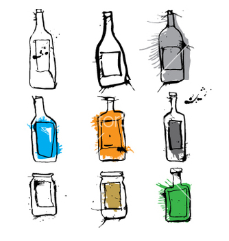 Free ink bottles and jars vector - бесплатный vector #271265