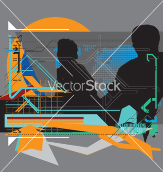 Free high tech background vector - Free vector #271305