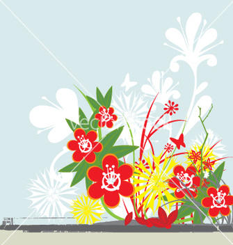 Free floral background vector - Kostenloses vector #271345